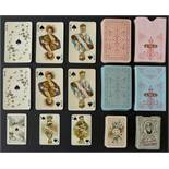 J. Muller & Cie, Schaffhouse, Switzerland playing cards. Swiss cantons souvenir patience pack no.