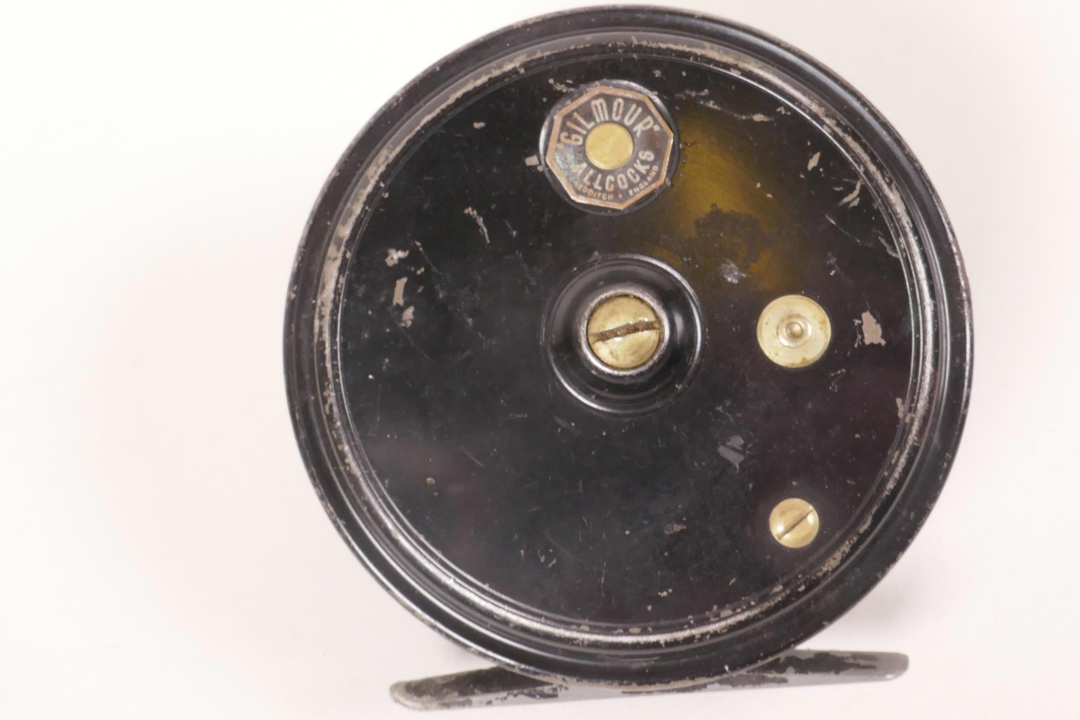 """Lot 20 - A J.W. Young & Sons Alcocks Gilmour 3¾"""" fishing reel"""