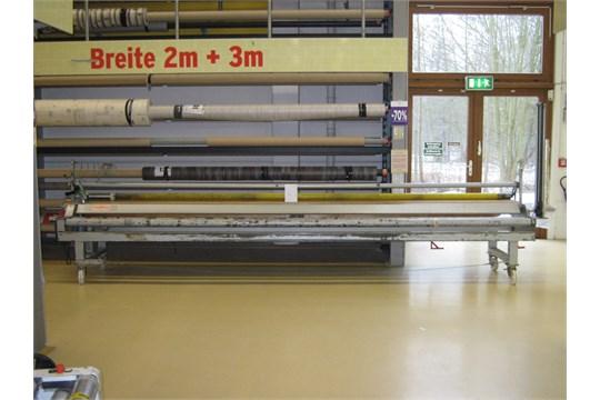 Schwab type TSM 500 W80 mobile carpet roll cutter/ slitter