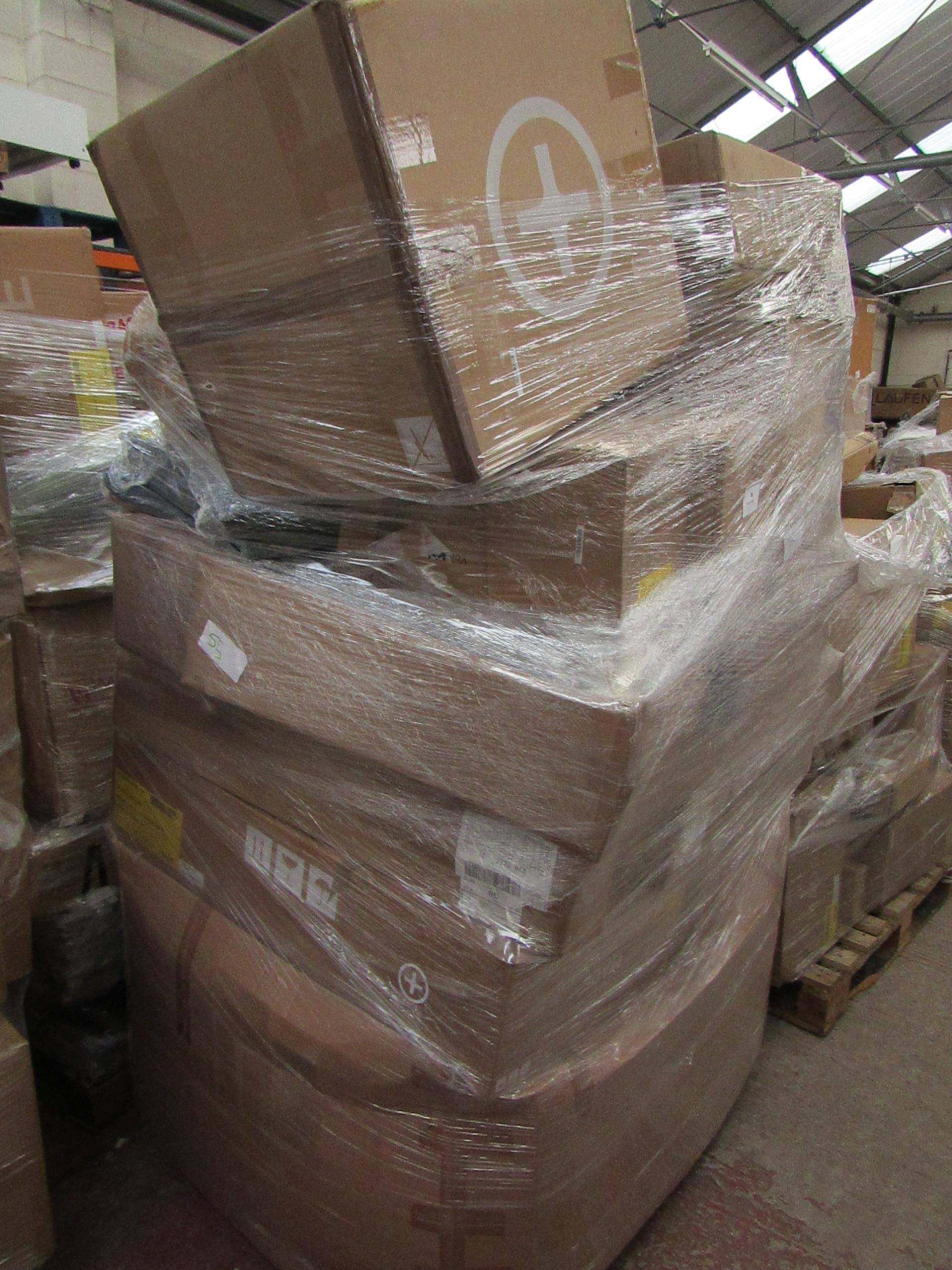   1X   PALLET OF MADE.COM RAW CUSTOMER RETURNS, THE PALLET CAN INCLUDE ITEMS SUCH AS SOFT