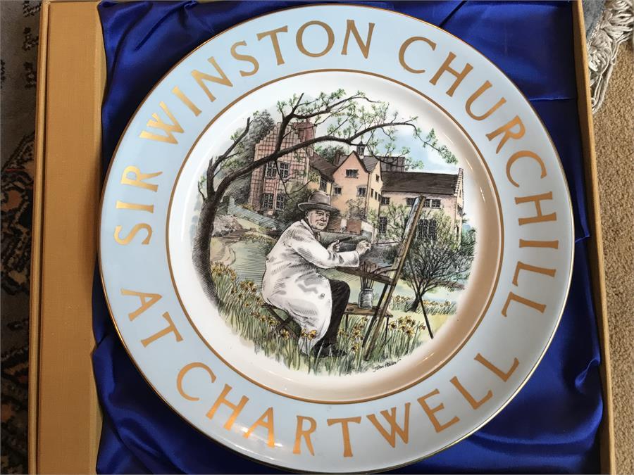 Lot 58 - Sir Winston Churchill At Chartwell Plate