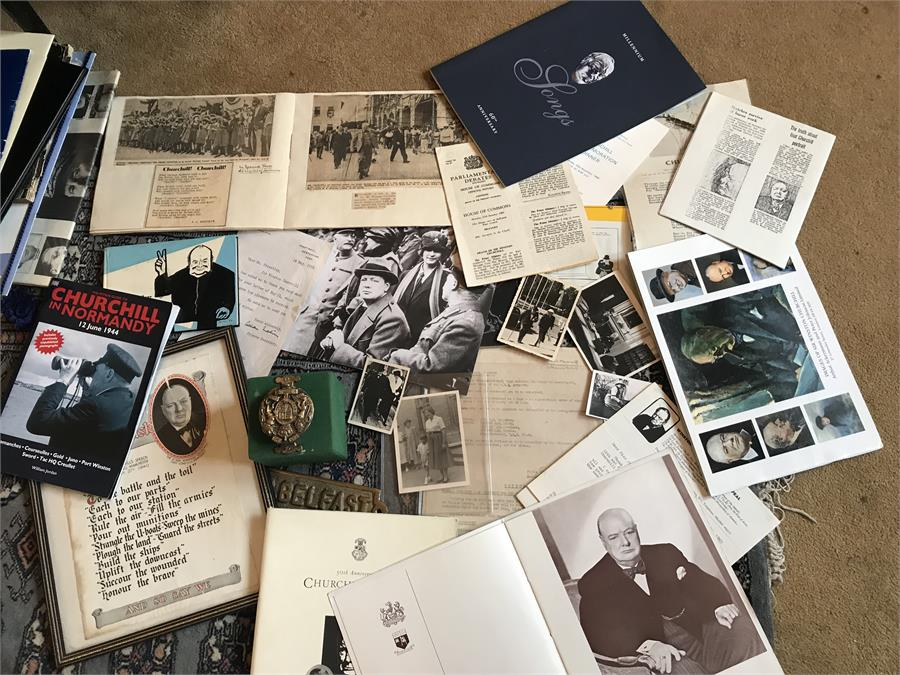 Lot 90 - Churchill Memorabilia- ex Bletchley Park Museum.