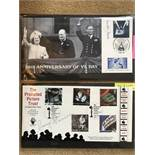 4 x signed first day covers including 50th Anniversary of VE Day