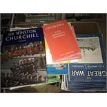 Box Lot of Various Churchill Related Magazines/Books