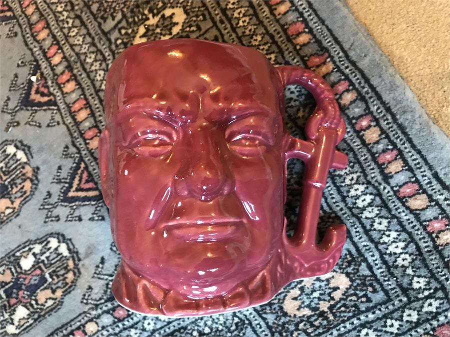 Lot 25 - Pink Shorter Winston Churchill Toby Jug