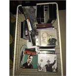 Box of CD's & Videos mainly Churchill related