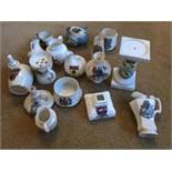 17 x Crested Ware items inc Grafton Fenton China etc...