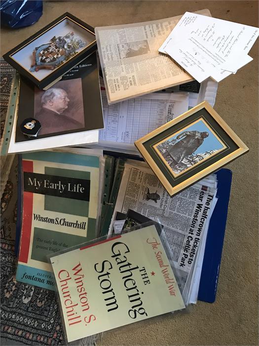 Lot 69 - Box Lot of Churchill Memorabilia