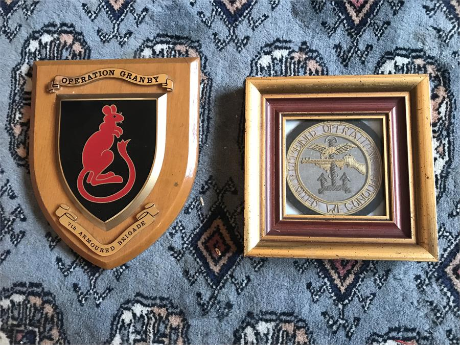 Lot 60 - Embroiled blazer badge and Shield.