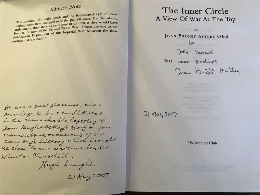 Lot 75 - The Inner Circle - A View of the War at the Top - by Joan Brigh Ashley OBE