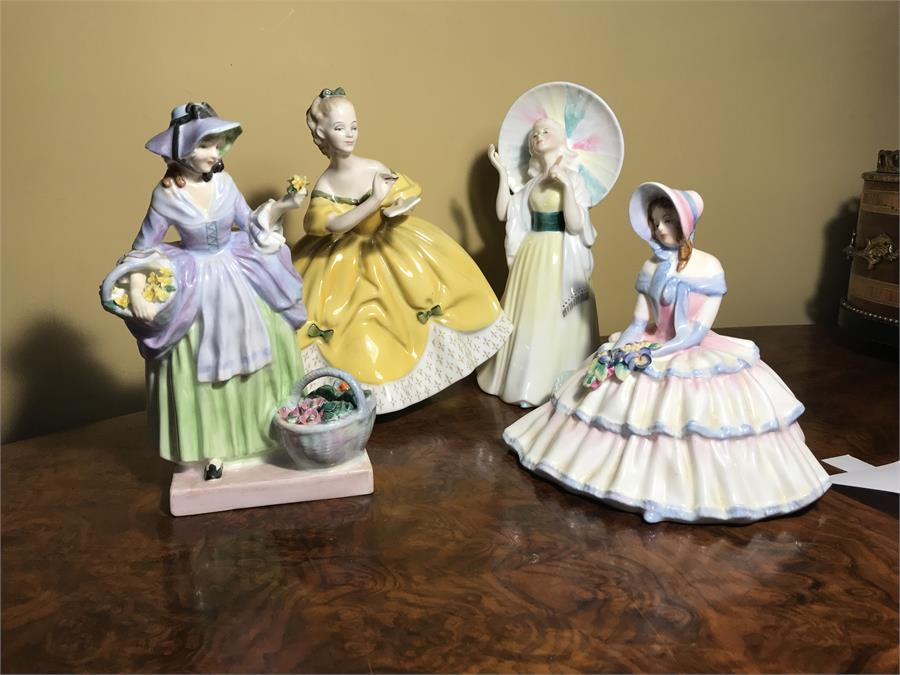 Lot 98 - Four Royal Doulton Figurines