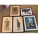 5 x Prints inc Vanity fair and Churchill