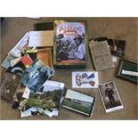 Anzac Buscuit Tin and Contents inc Churchill related ephemera and 1882 Isaac Pitman Phenetic shortha