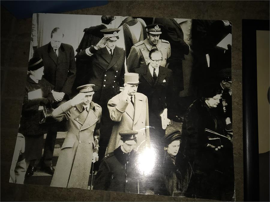 Lot 80 - 7 x Churchill/War Related Pictures and Oils