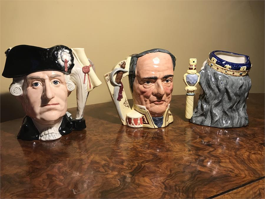 Lot 103 - Three Royal Doulton Character Jugs