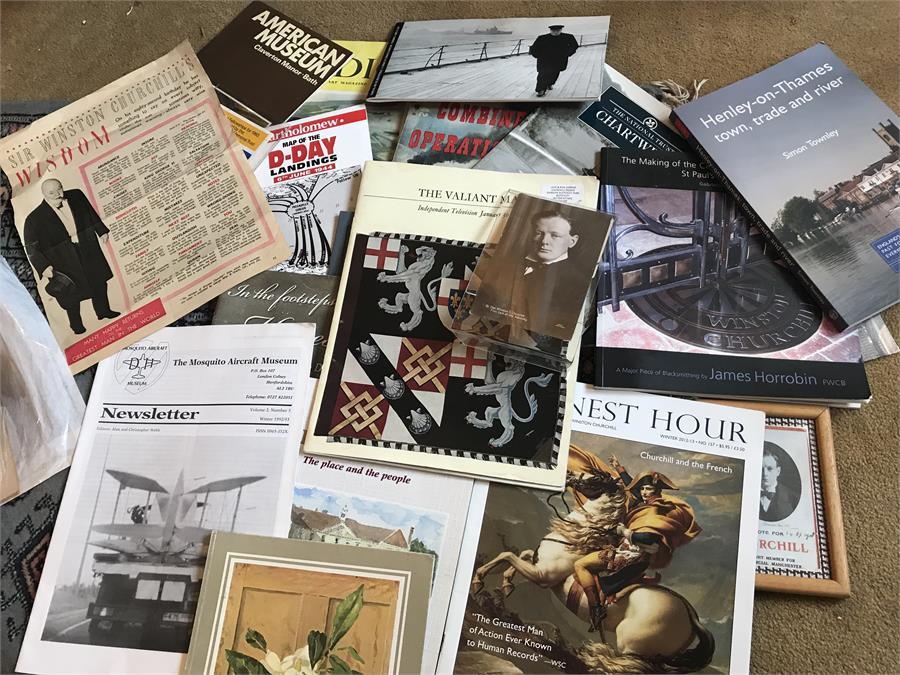 Lot 30 - An Assortment of Winston Churchill Related magazines/books etc...