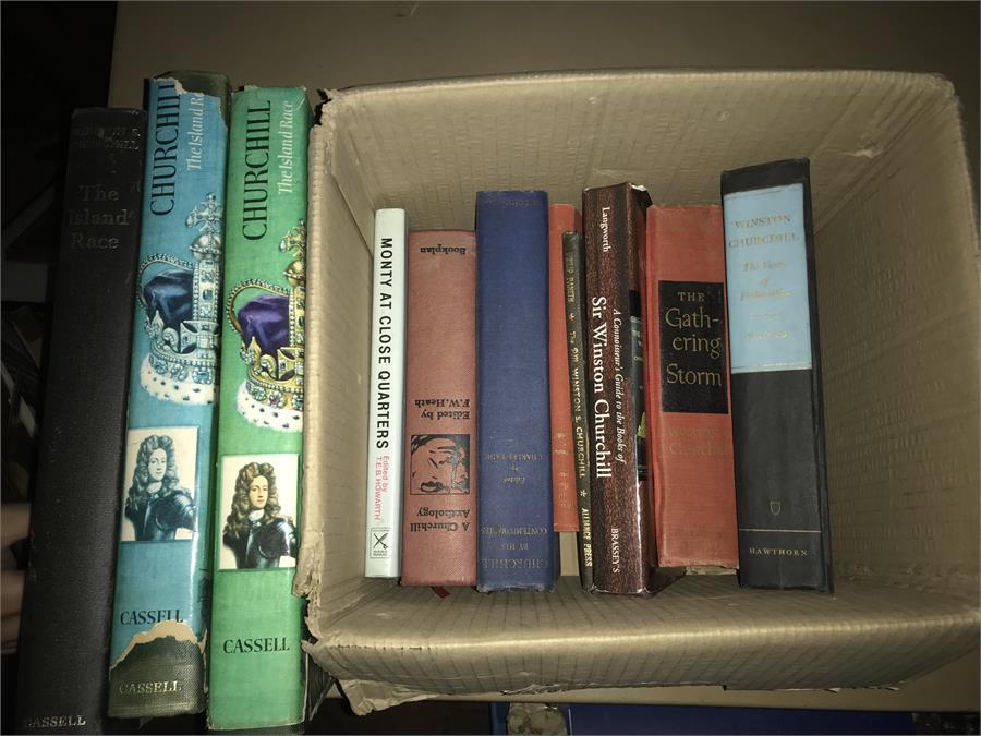 Lot 48 - Boxed Lot of Churchill Books