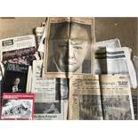 A Collection of newspapers relating to the death of Churchill
