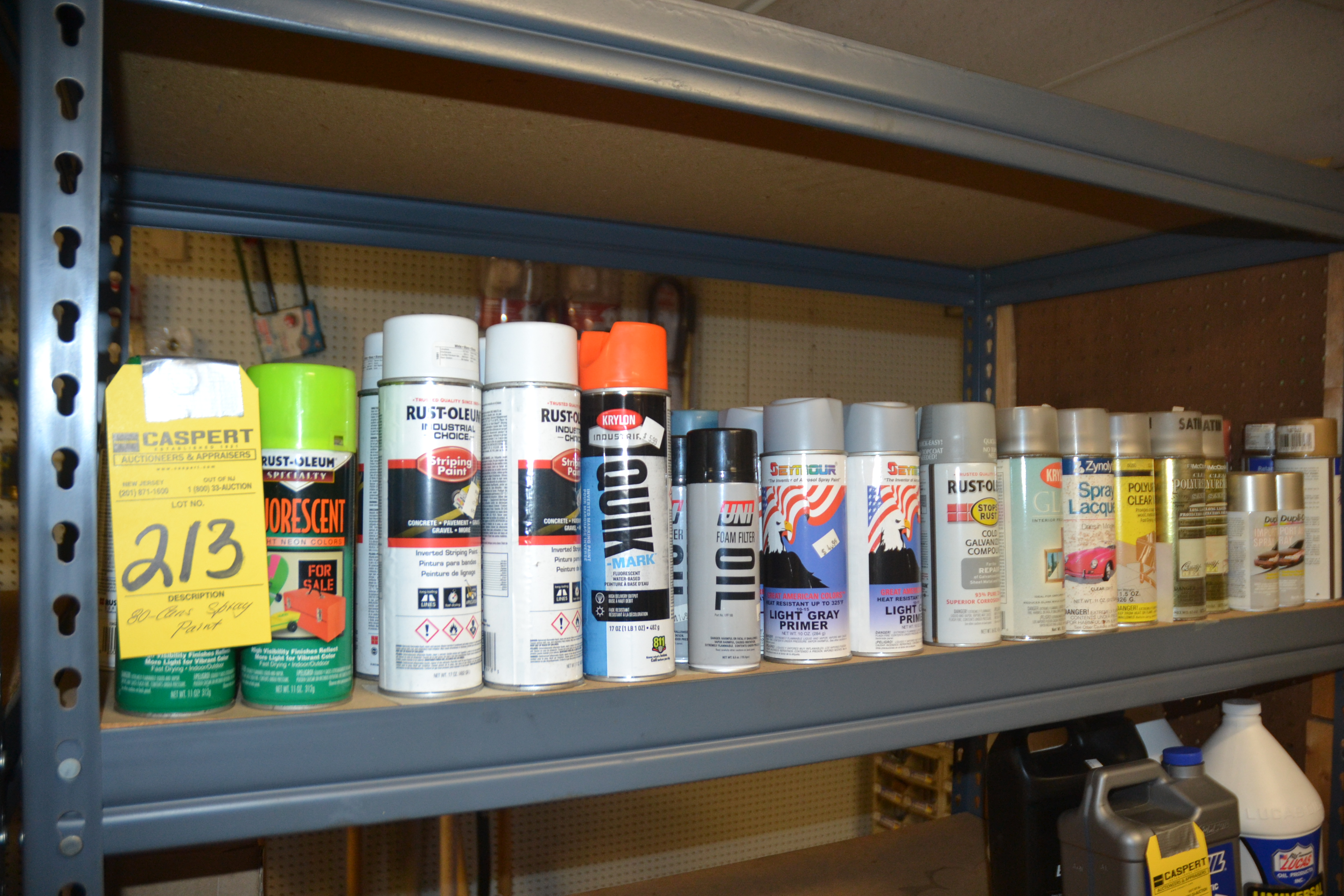 Lot 213 - CANS SPRAY PAINT
