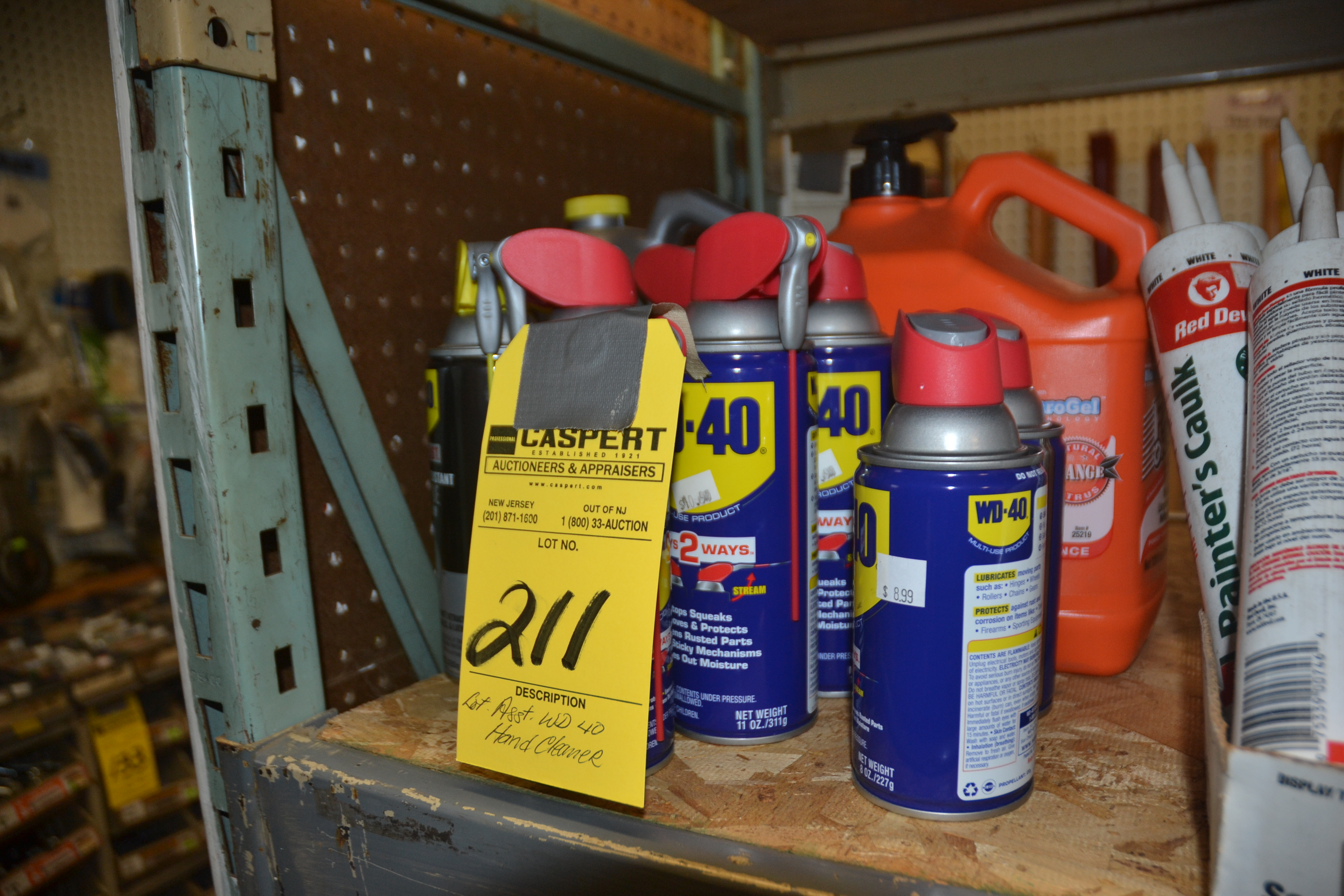 Lot 211 - LOT - WD40 & HAND CLEANER