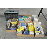Lot-Screws, Nails, Light Bulbs, Fuses, Hardware, Misc. Electrical in (5) Boxes with Organizer