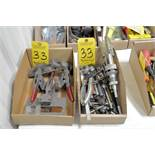 Lot-Manual Hone, Pliers, Chuck Keys, and Destaco Clamps in (2) Boxes