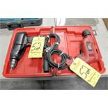 "Lot-(1) Sears 3/8"" and (1) Tool Shop 3/8"" Electric Drills with (1) Case"