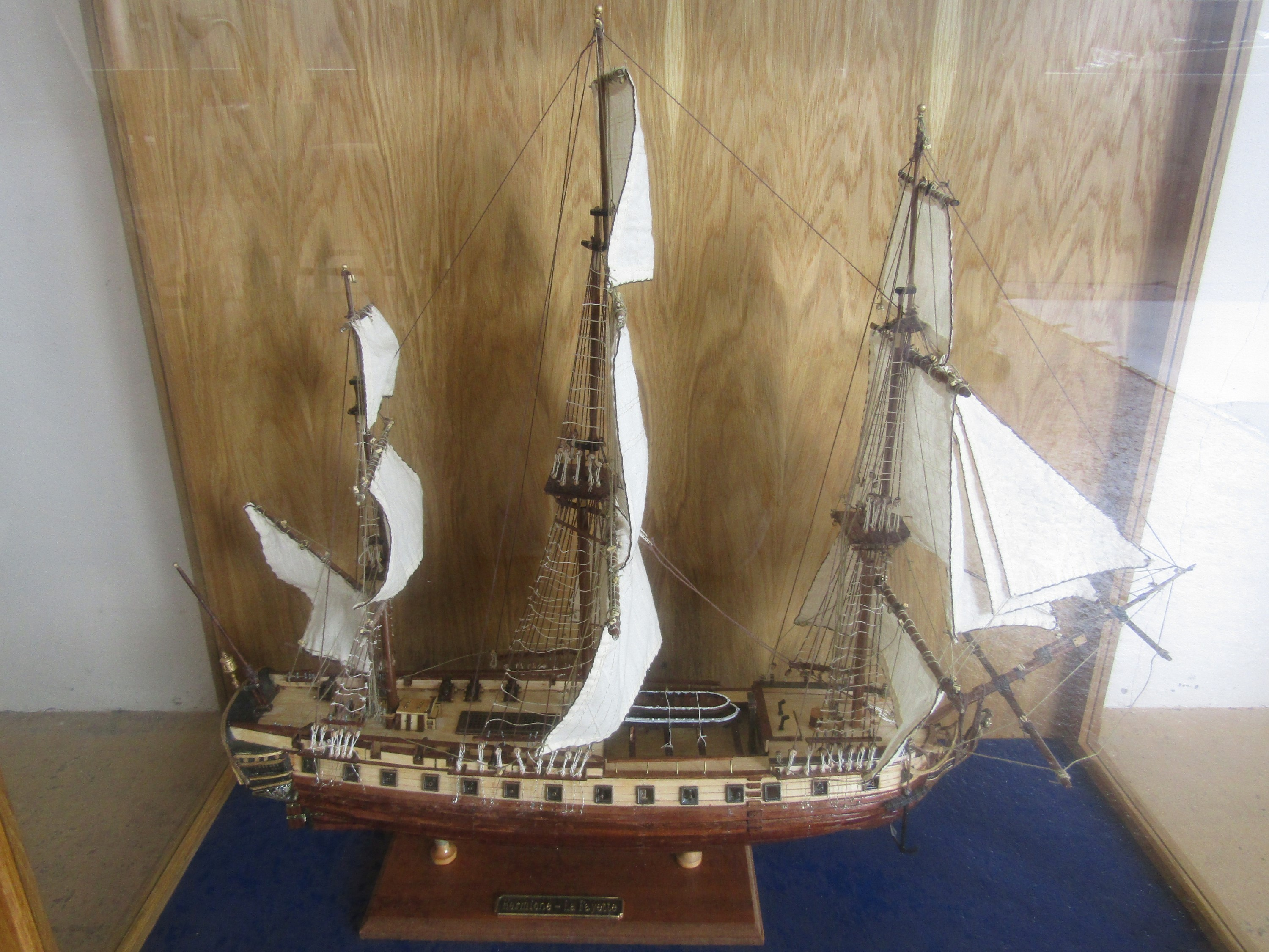 Lot 28 - A large hand-built wooden scale model of the American Revolutionary War period French military