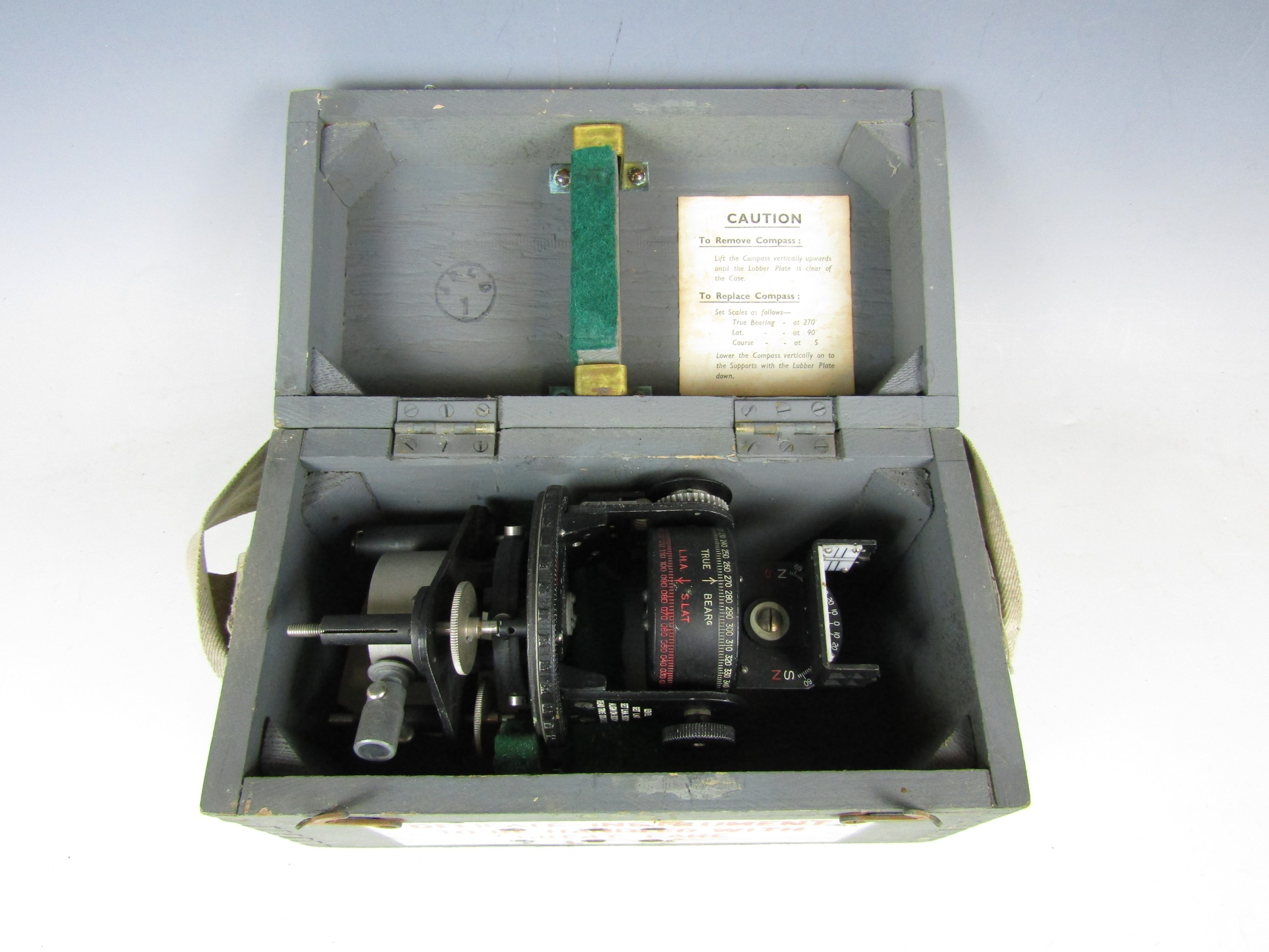 Lot 44 - A cased Astro Compass MKII