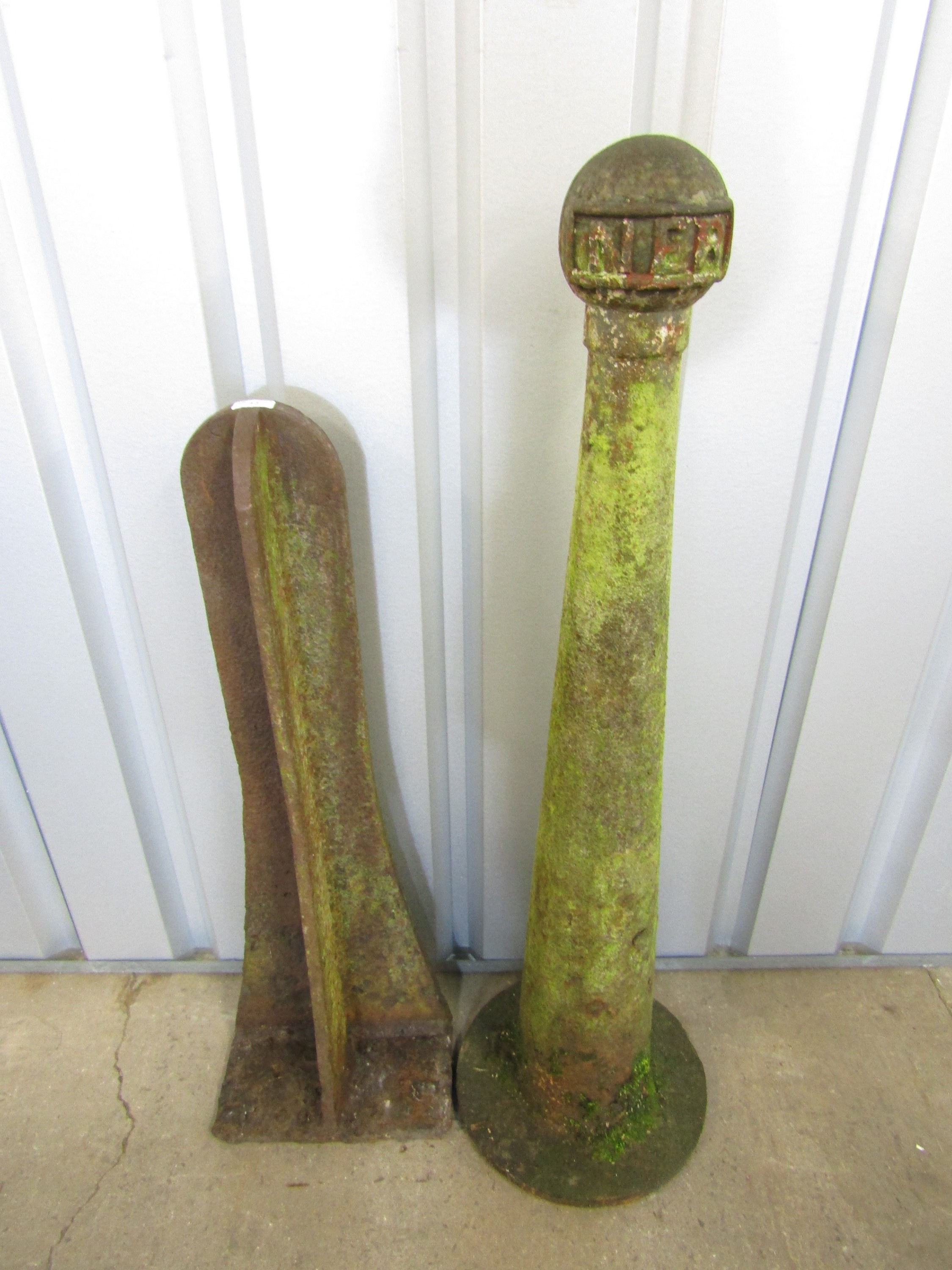 Lot 43 - [Railway Interest] A vintage NER railway boundary marker together with one other