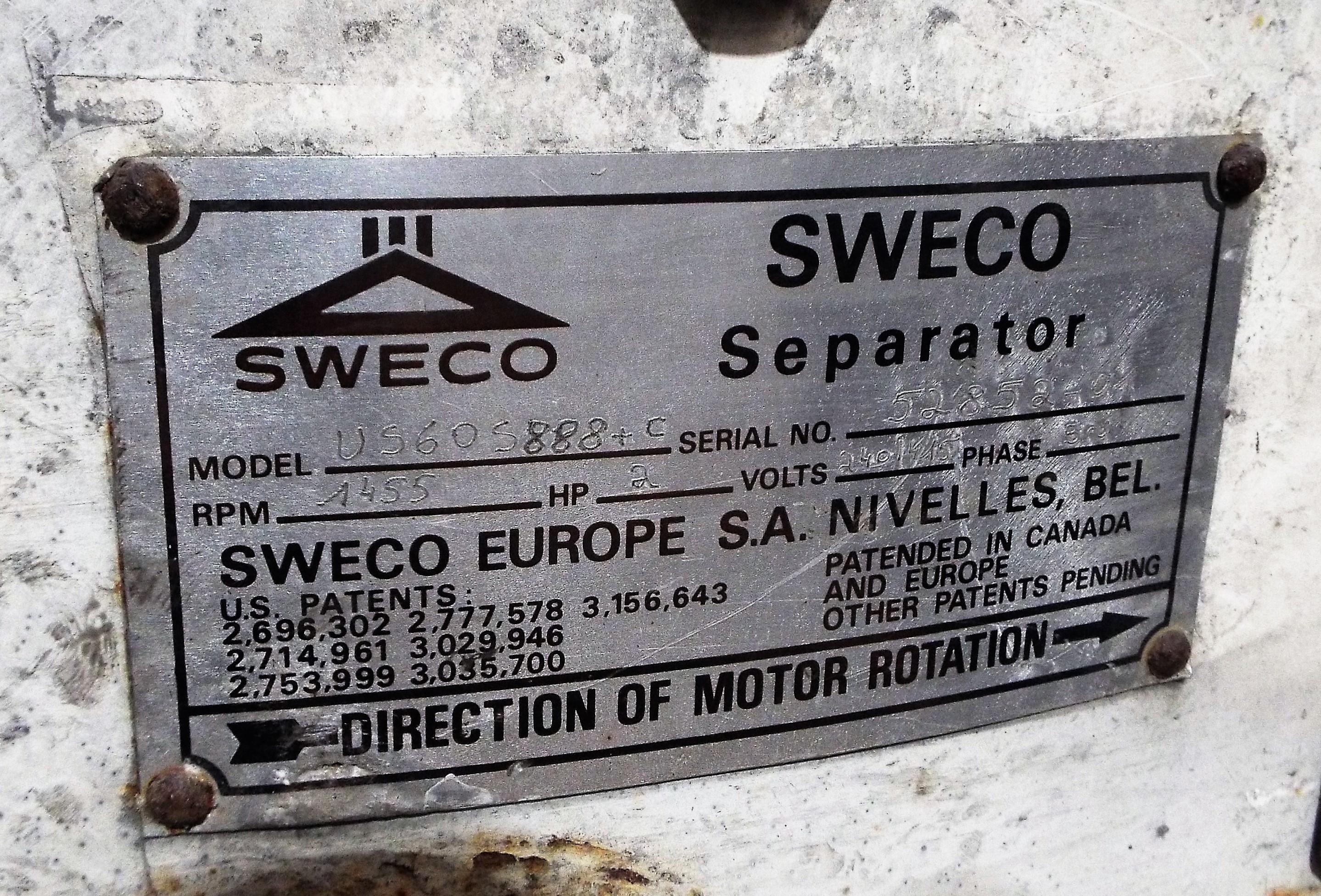 Lot 10 - Sweco Separator.