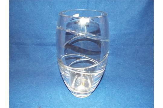 A Large Jasper Conran Waterford Crystal Art Glass Vase Of Baluster
