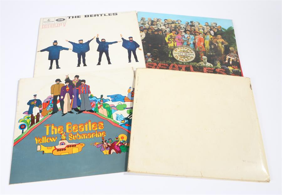 Lot 1 - 4 x The Beatles LPs - Help, Sgt Peppers Lonely Hearts Club Band with red/white inner sleeve.