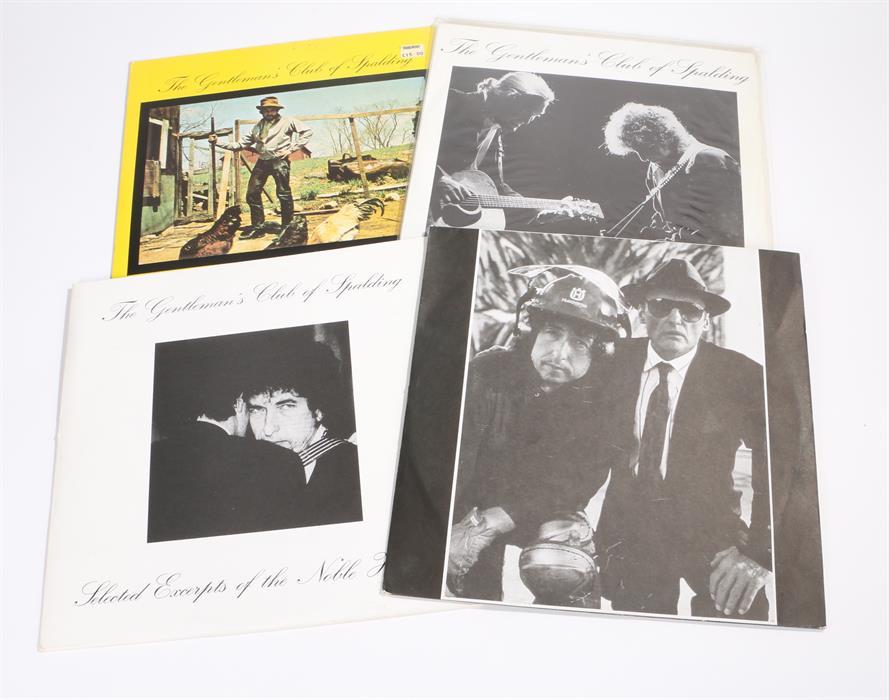 Lot 48 - 4 x Bob Dylan LPs. The Gentlemans Club Of Spalding - Days Of '49. Fountain Of Fortune. Selected