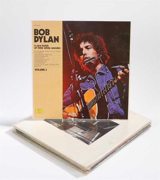 Lot 4 - 8 x Bob Dylan LPs. Stealin, Outtakes 1961 - 65 on blue vinyl, Trade Mark of Quality. A Rare Batch Of