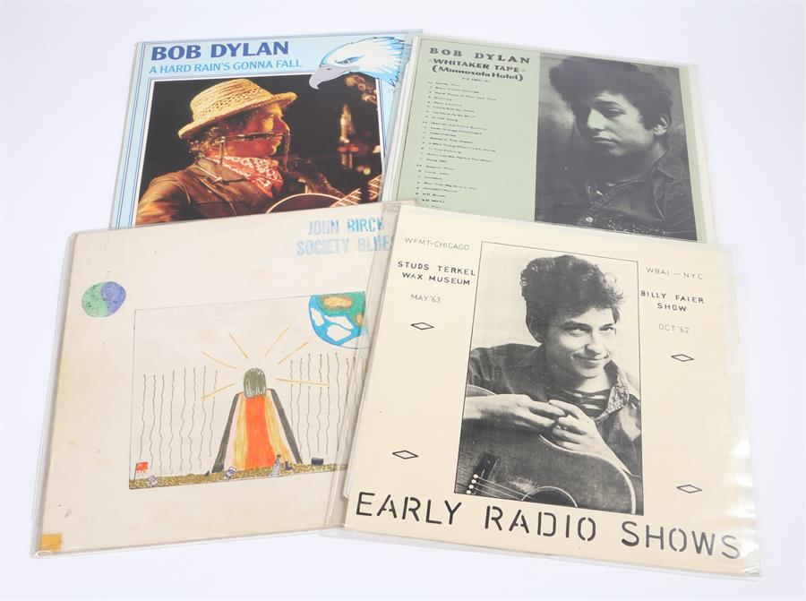 Lot 46 - 4 x Bob Dylan LPs. Early Radio Shows - Studs Terkel Wax Museum, WFMT-Chicago, May 1963 & Billy Faier