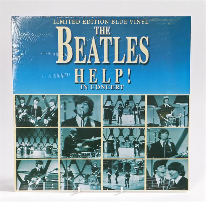 Lot 12 - The Beatles - Help! In Concert. Ltd Edition Blue Vinyl, Coda Publishing.