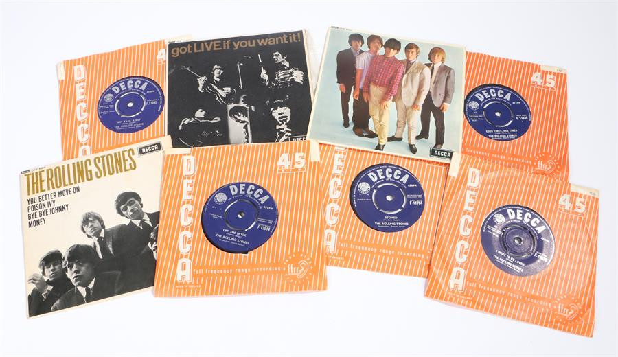 "Lot 56 - The Rolling Stones - 3 x EPs & 5 x 7"" singles. The Rolling Stones s/t DFE 8560. Got LIVE If You Want"
