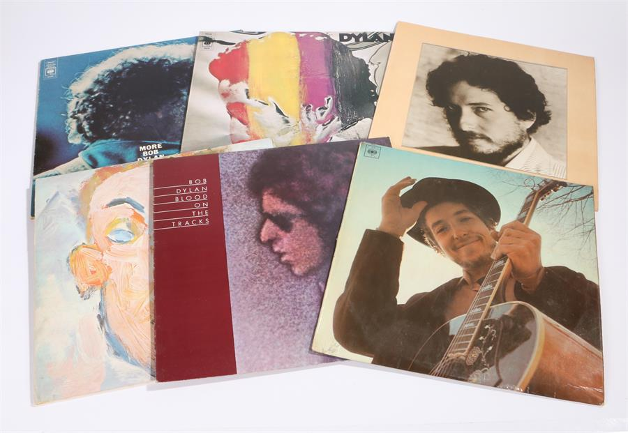 Lot 36 - 6 x Bob Dylan LPs. Nashville Skyline CBS 63601 A1/B1 stereo. Blood On The Tracks CBS 69097 A2/B2 Red