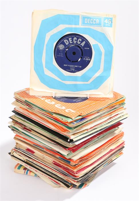 "Lot 50 - Large Collection Of 1960s 7"" Singles (approx 60) to include The Beatles, The Yardbirds, The Animals,"