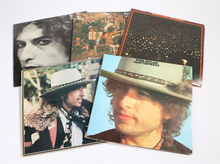 Lot 43 - Bob Dylan - 5 x LPs. Desire CBS 86003. Before The Flood (with The Band) Island IDBD1. The Historic