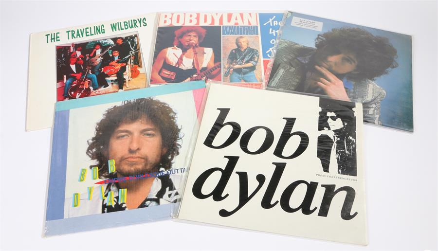 Lot 32 - 5 x Bob Dylan LPs. Press Conference, Sydney & London 1986. Empire Burlesque Outtakes. Seven Days -