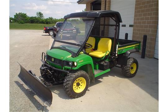 John Deere Gator Plow >> John Deere Xuv 6251 Gator W Snow Plow Windshield 4x4 192 Hrs
