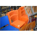 *TEN PLASTIC MODERN STACKING CHAIRS