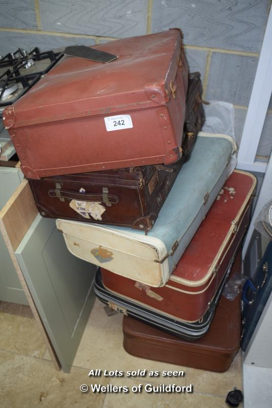 Lot 242 - *SIX MIXED VINTAGE SUITCASES