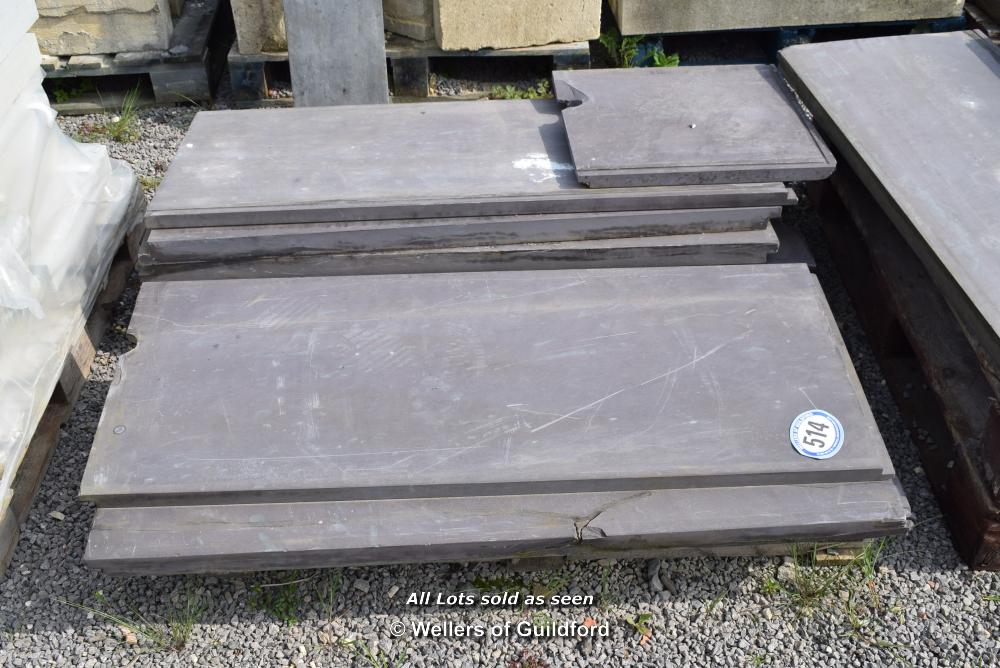 Lot 514 - *PALLET CONTAINING A QUANTITY OF SNOOKER TABLE SLATES