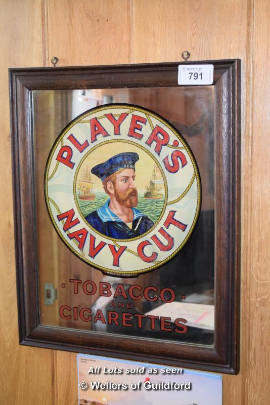 Lot 791 - *MIRRORED SIGN 'PLAYERS NAVY CUT', 460MM X 555MM