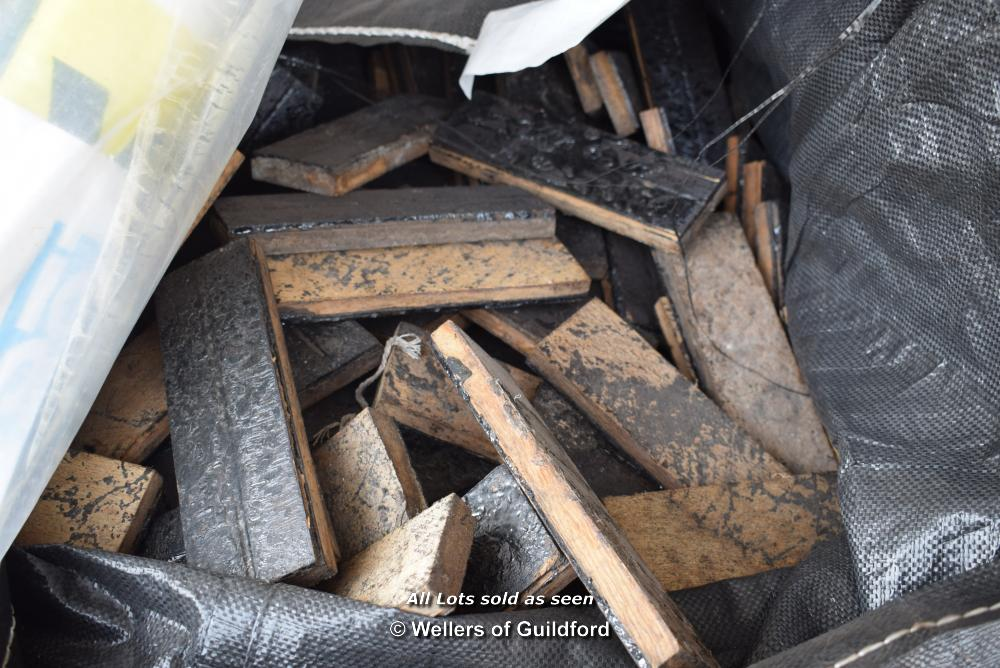 Lot 390 - *TWO BAGS OF MIXED PARQUET FLOORING (NEEDS PREPARATION)