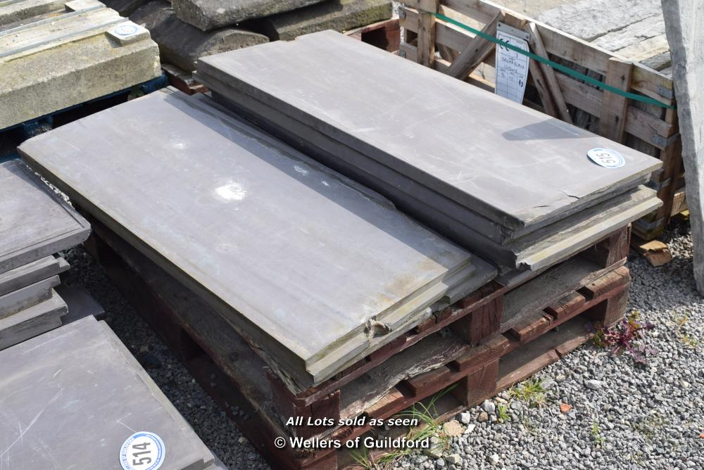 Lot 515 - *PALLET CONTAINING A QUANTITY OF SNOOKER TABLE SLATES
