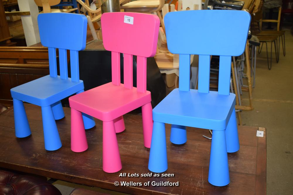 *THREE CHILDRENS CHAIRS